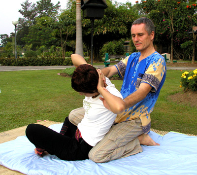 Thai massage spinal twist