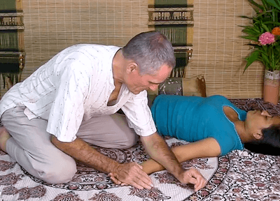 Thai Massage forearm technique for arm massage