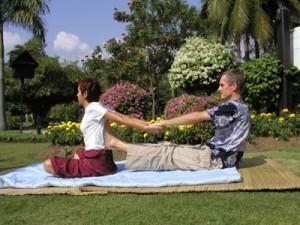 image of Thai massage back bend