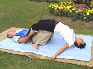 image of Thai Massage bridge position