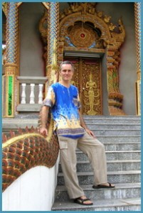 image of Shama at temple in Chiang Mai
