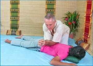 Thai Massage elbow work