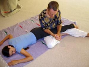 image of Thai Massage leg work