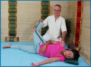 Thai Massage side stretch