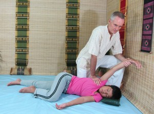 image of Thai Massage side position stretch