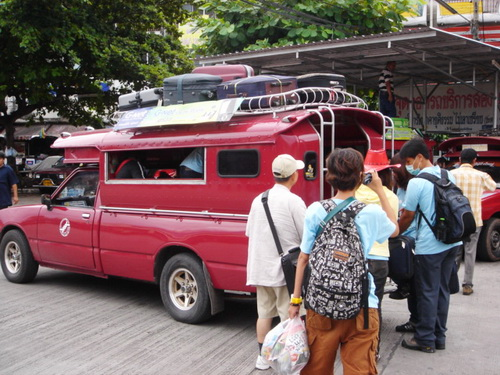 A Truck Taxi in Chiang Mai, Thailand