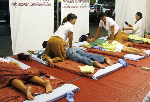 Open air Thai massage shop