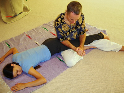image of a Thai Massage position