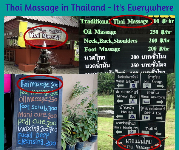 Thai Massage in Thailand - It's Everywhere