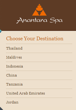 Anantara Spa locations