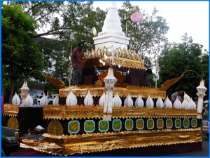 image of Loi Krathong festival float in Chiang Mai Thailand