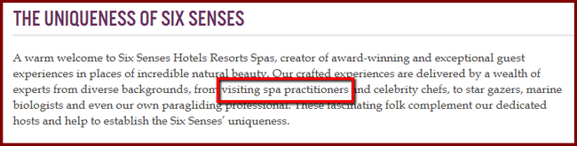 Six_Senses Spa home page text