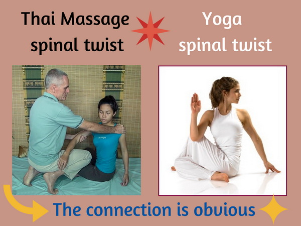 Thai Massage  and Yoga spinal twists