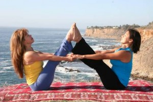 image of partner yoga position