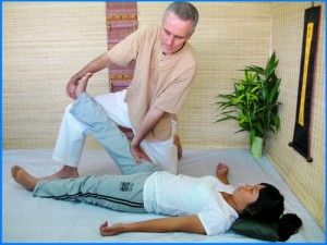 Thai Massage calf stretch