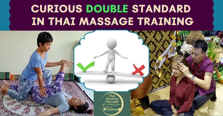 double standard in thai massage training