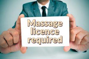 massage license required