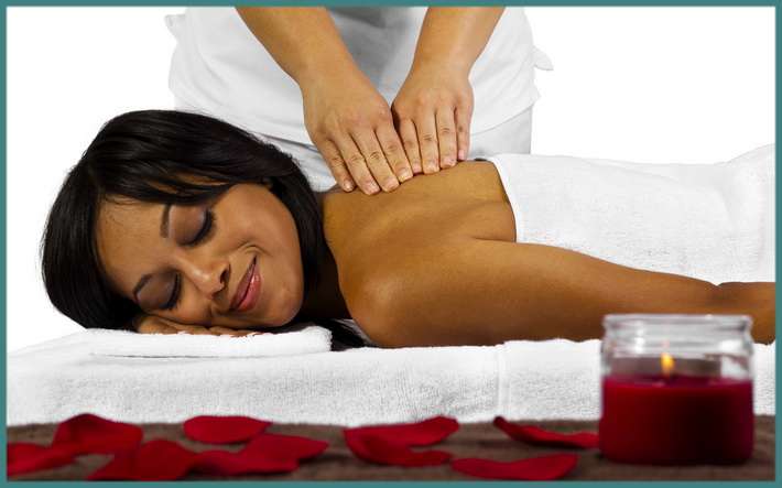 A happy massage client