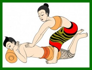Thai Massage cartoon