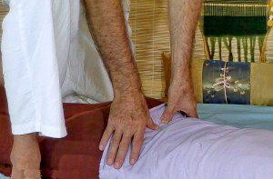 Thai Massage thumbing work