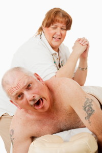 painful massage image