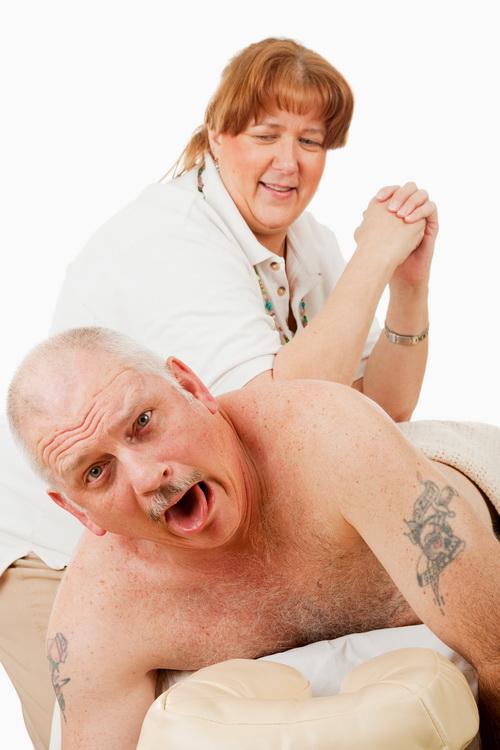 painful massage image