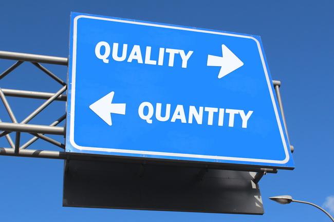 quality vs quantity in massage