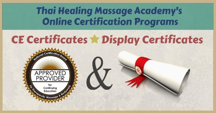 Thai Healing Massage Academy's online certification programs