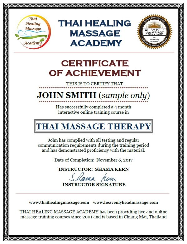 Thai Massage Certification and CEUs