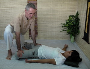 Thai Massage hip stretch