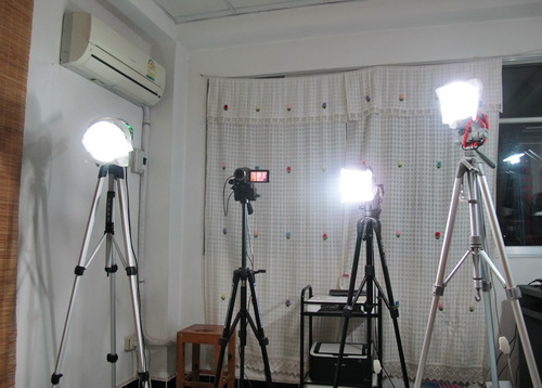 Thai Massage video studio lighting equipment