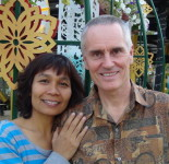 The author, Shama Kern, founder of Thai Healing Massage Academy, with his wife