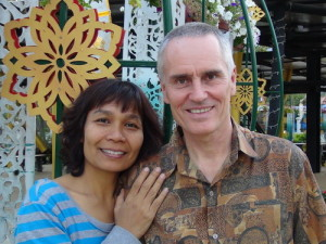 The author, Shama Kern, and his wife