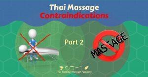 contraindication for thai massage