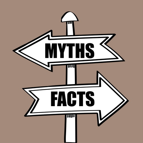 myths and facts sign