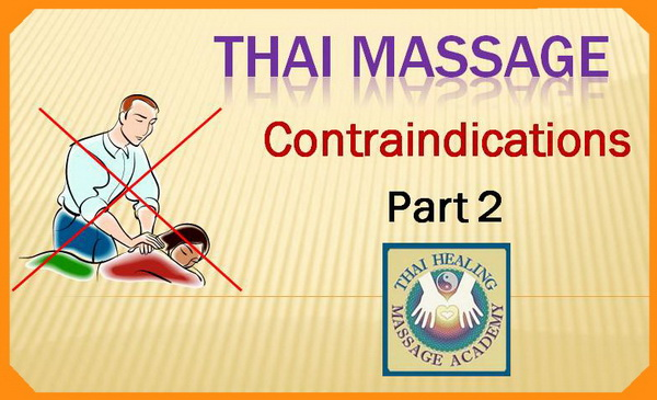 thai massage contraindications