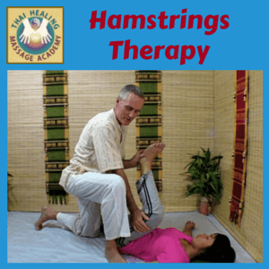 Hamstrings therapy massage course logo