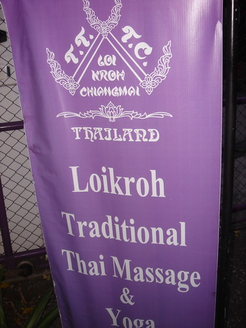 Loi Kroh massage in Chiang Mai, Thailand