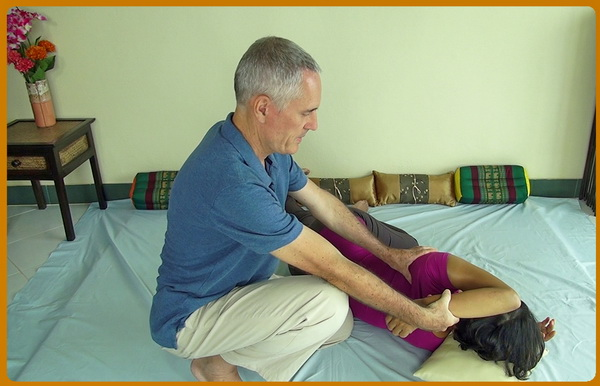 Thai Massage shoulder stretch