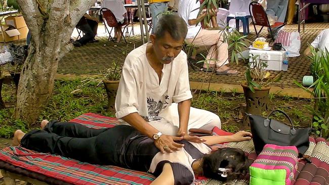 Thai Massage in public