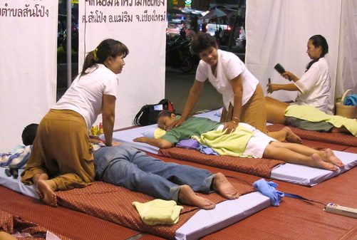 Simple Thai Massage shop in Thailand