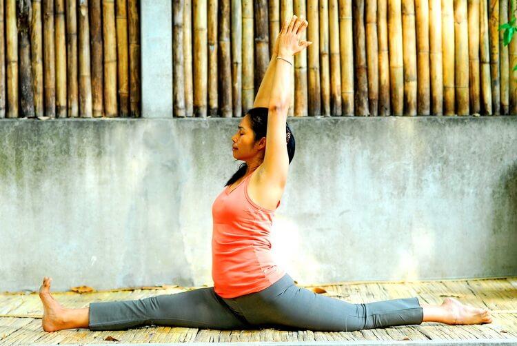 Thai woman practicing yoga