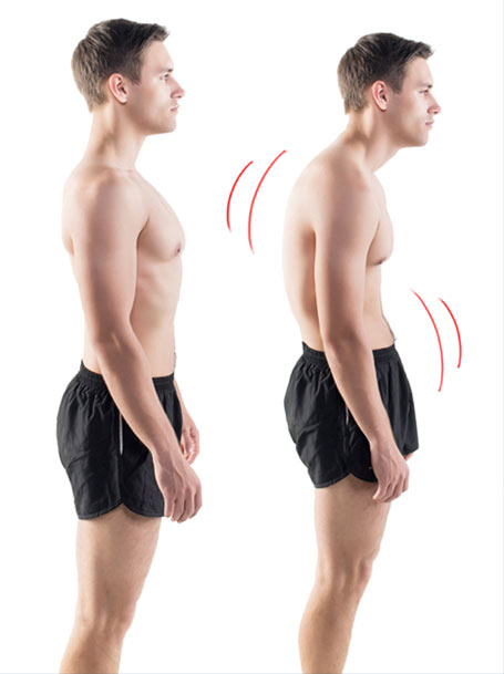 good and bad posture comparison