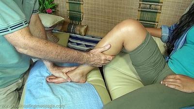 Thai Foot Massage on the calves