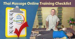 thai massage online training checklist