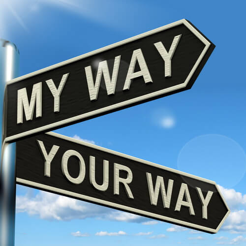 My way - Your way sign