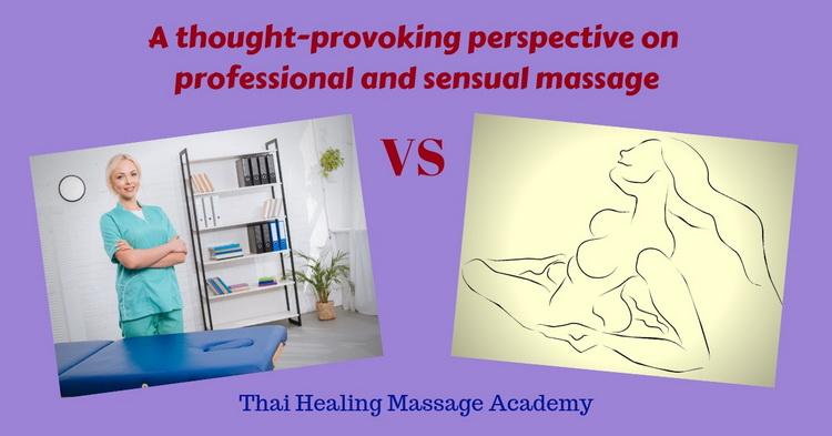 Professional versus sensual massage