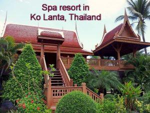 spa-resort in Ko Lanta, Thailand