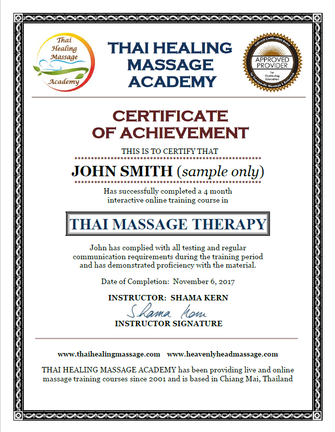 How To Get A Thai Massage Online Certificate And CEUs
