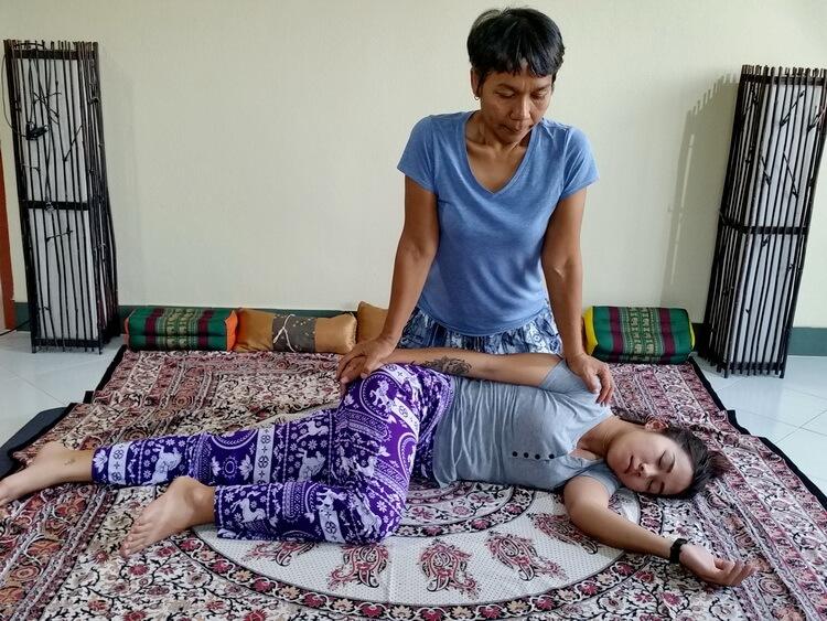 Thai Massage side position techniques